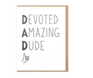 Devoted Amazing Dude - Card