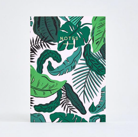 Tropical Leaves - Notebook