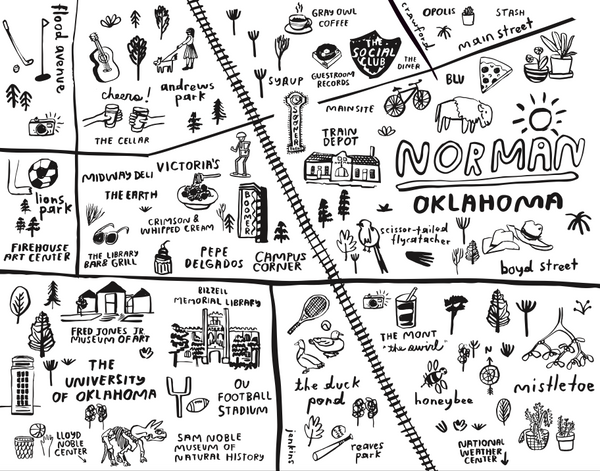 Norman Map - Tote