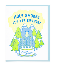 Holy Smokes - Birthday Card