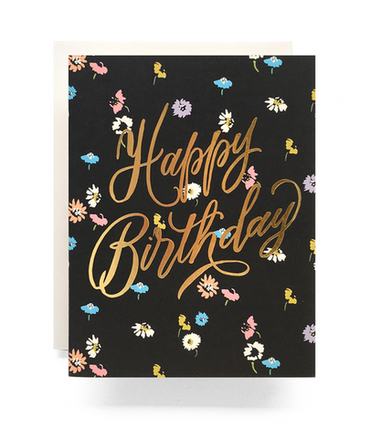 Ditsy Floral Birthday - Card