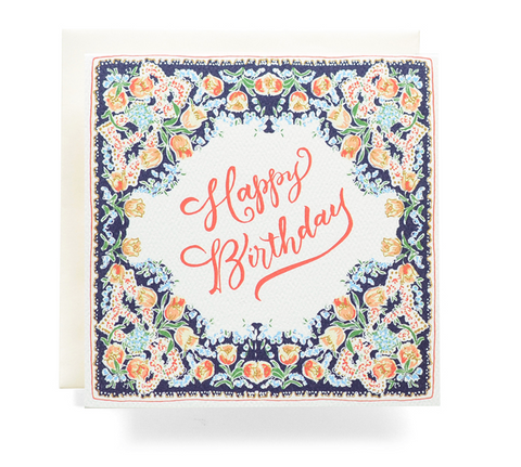 Handkerchief Birthday - Card