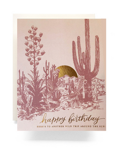 Cactus Sunset Birthday - Card