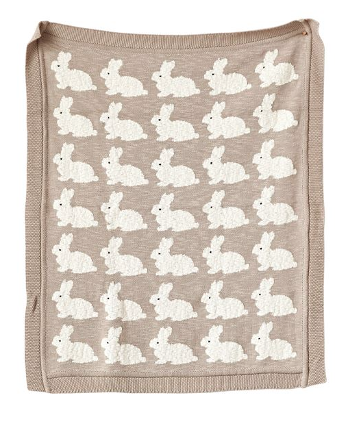 Cotton Blanket with Rabbits