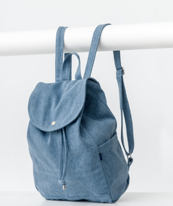 Washed Denim Drawstring Backpack