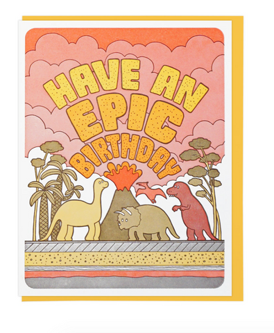 Epic Birthday Dinos - Card