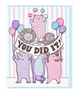 You Did It Party Animals - Card