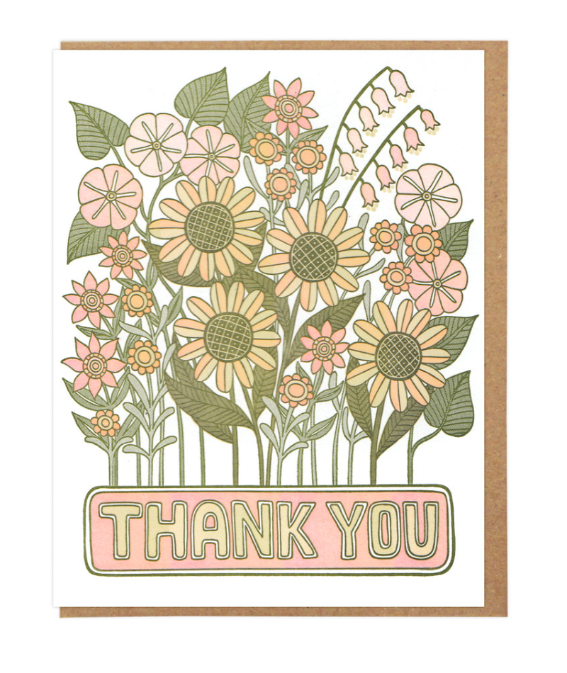 Thank You Flowers - Card