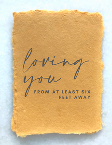 Paper Baristas - COVID19 GREETING CARD: Loving You From Six Feet Away