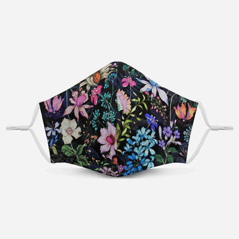 Unity Face Mask 2.0 w/ Filter Pocket (Night Floral)