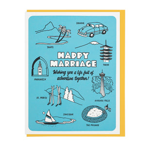 Happy Marriage Adventure - Card