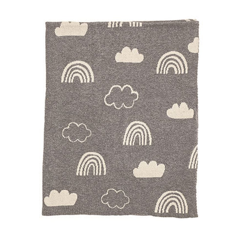 Rainbows & Clouds Baby Blanket