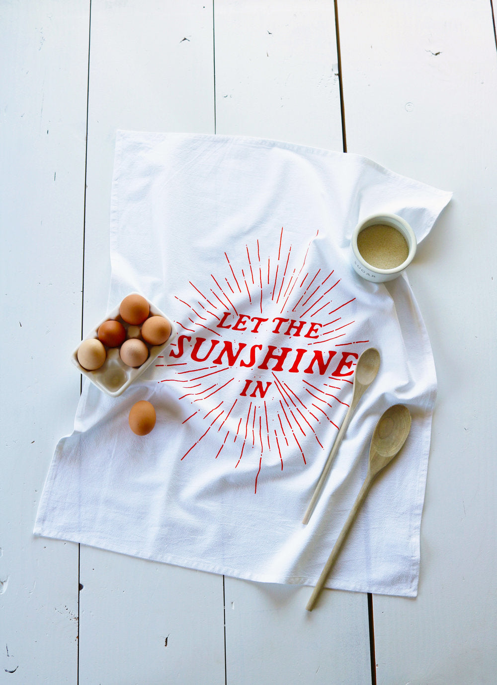 Oh, Little Rabbit - Let The Sunshine In Tea Towel