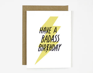 Badass Birthday - Card