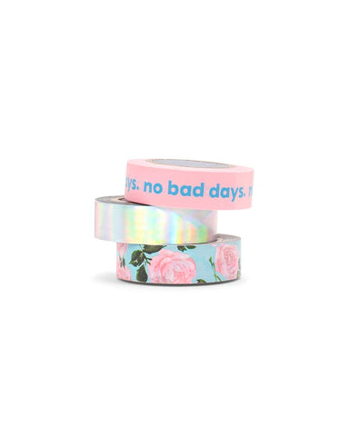 Stick With It Tape Set - Rose Parade/No Bad Days/Holographic