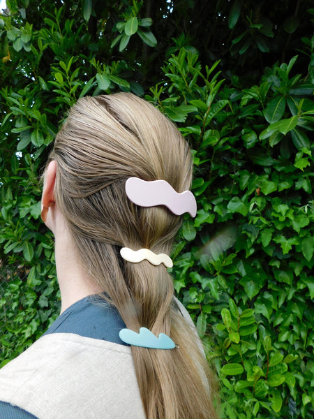 Pink Wave Barrette