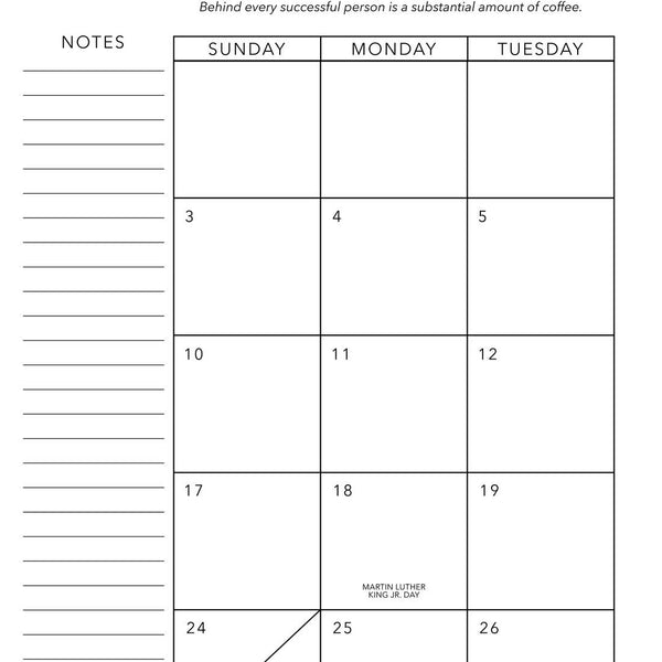 2021 MONTHLY & WEEKLY PRESSED PLANNER