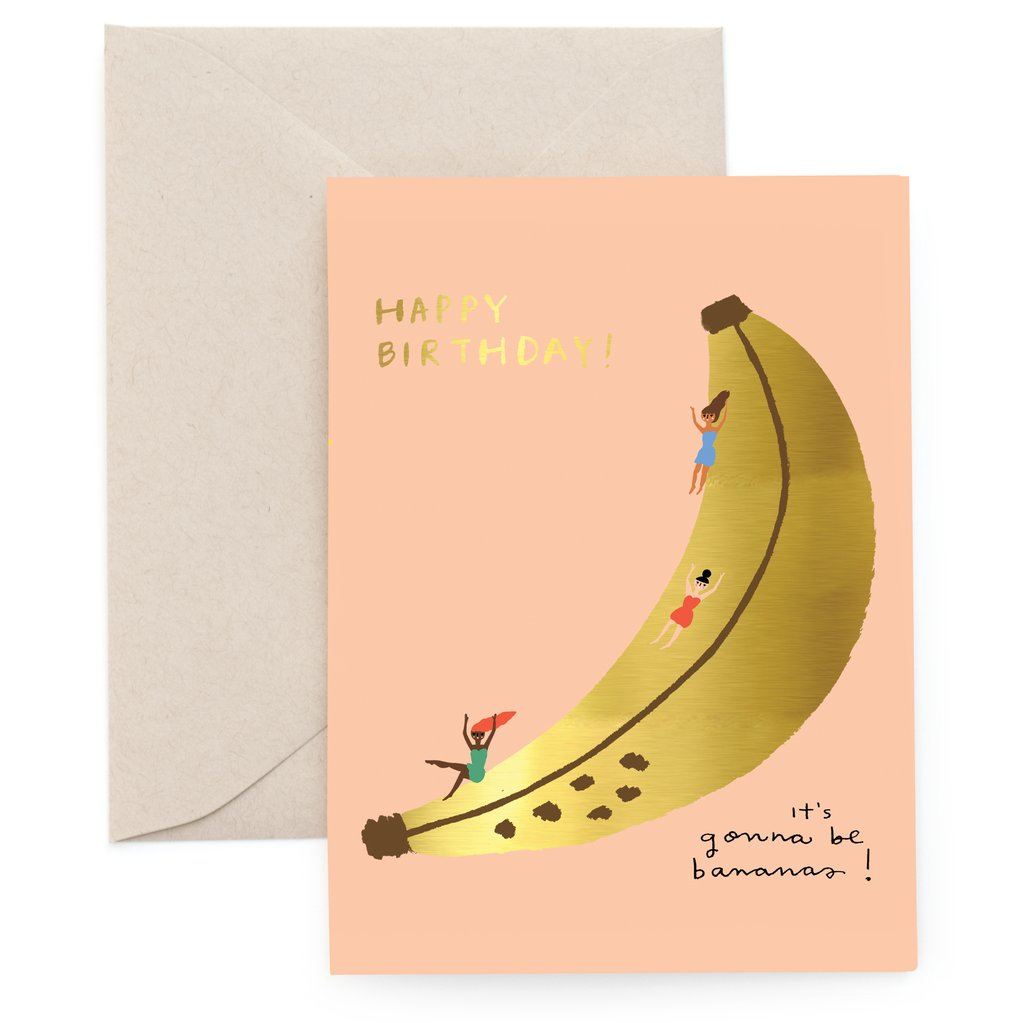 Banana Slide Birthday - Card