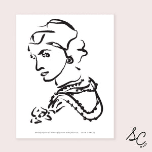 Women Prints - Coco Chanel - 11x14