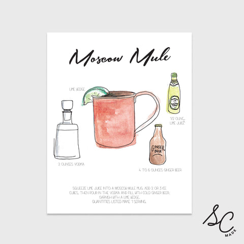 Moscow Mule - Drink Print