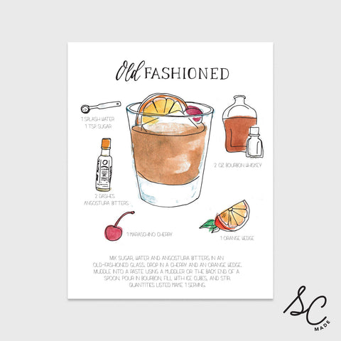 Old Fashioned - Drink Print