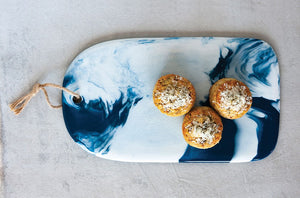 Blue Marble Ceramic Cheese Board