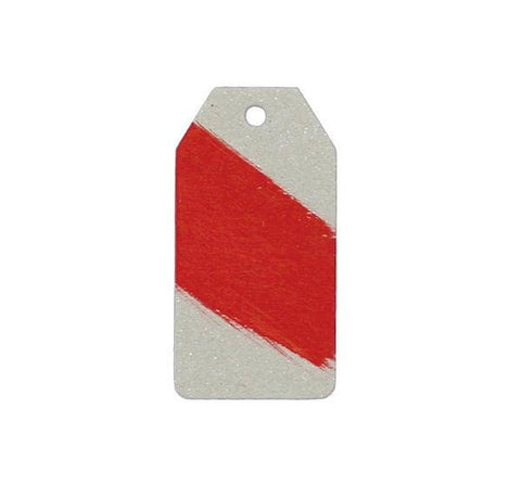 Kraft Stripe Tag Red