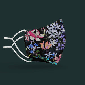 Children's Unity Face Mask 2.0 w/ Filter Pocket (Night Floral)