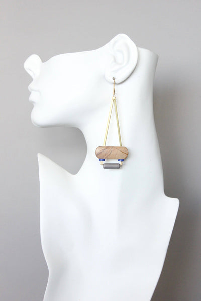Brass + Jasper Earrings