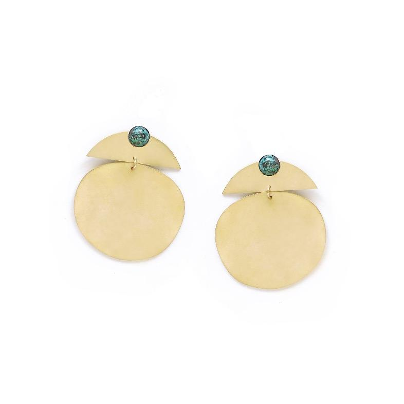 Elwha (Stone) Earrings- Turquoise