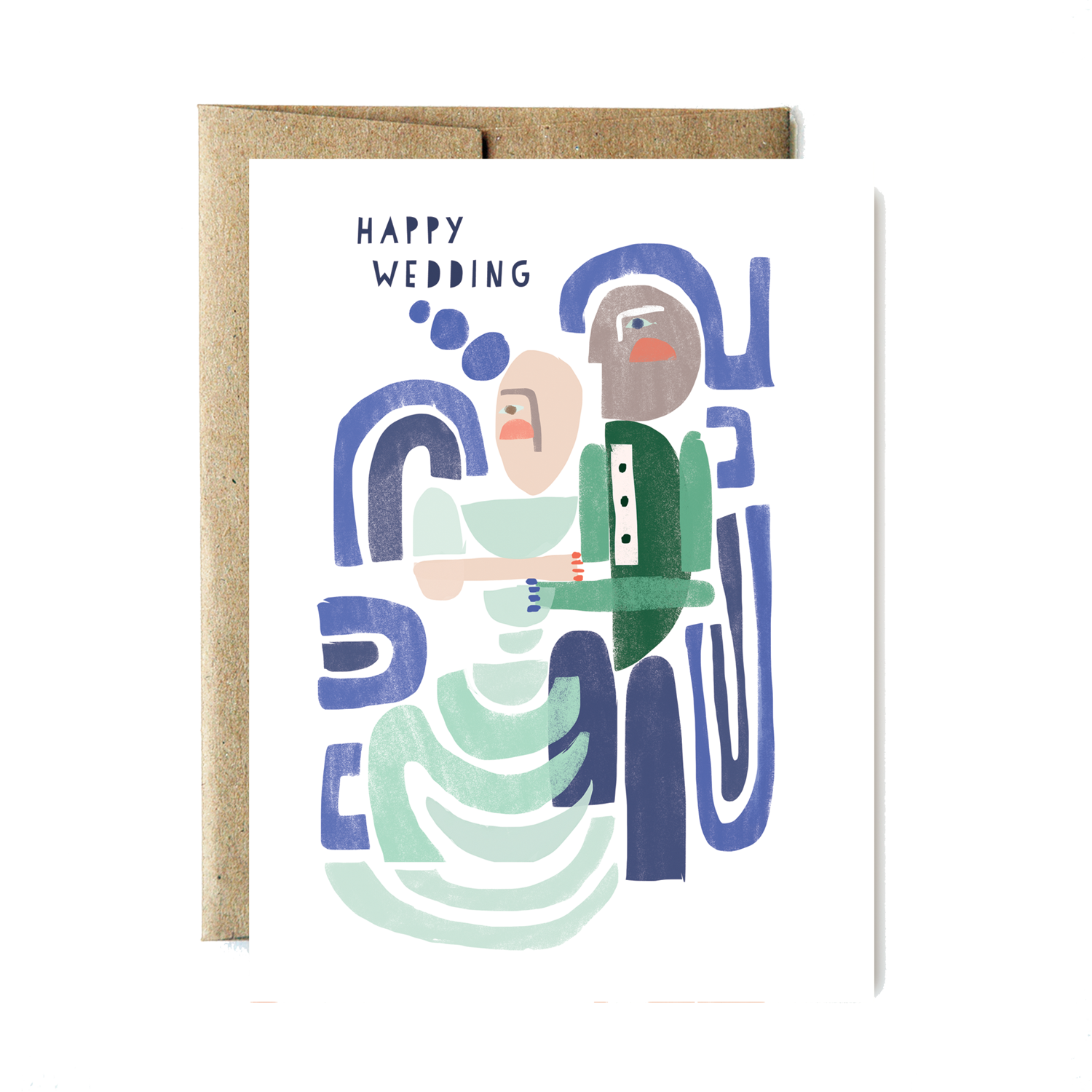 Shapes Happy Wedding Card