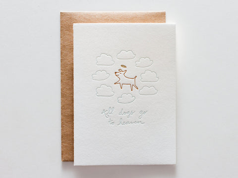 All Dogs Go To Heaven - Card