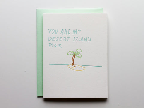 Desert Island Pick - Card