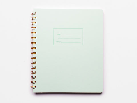 Mint Notebook - lined