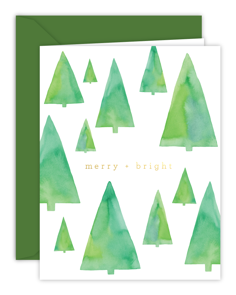 Merry and Bright - card - set of 8
