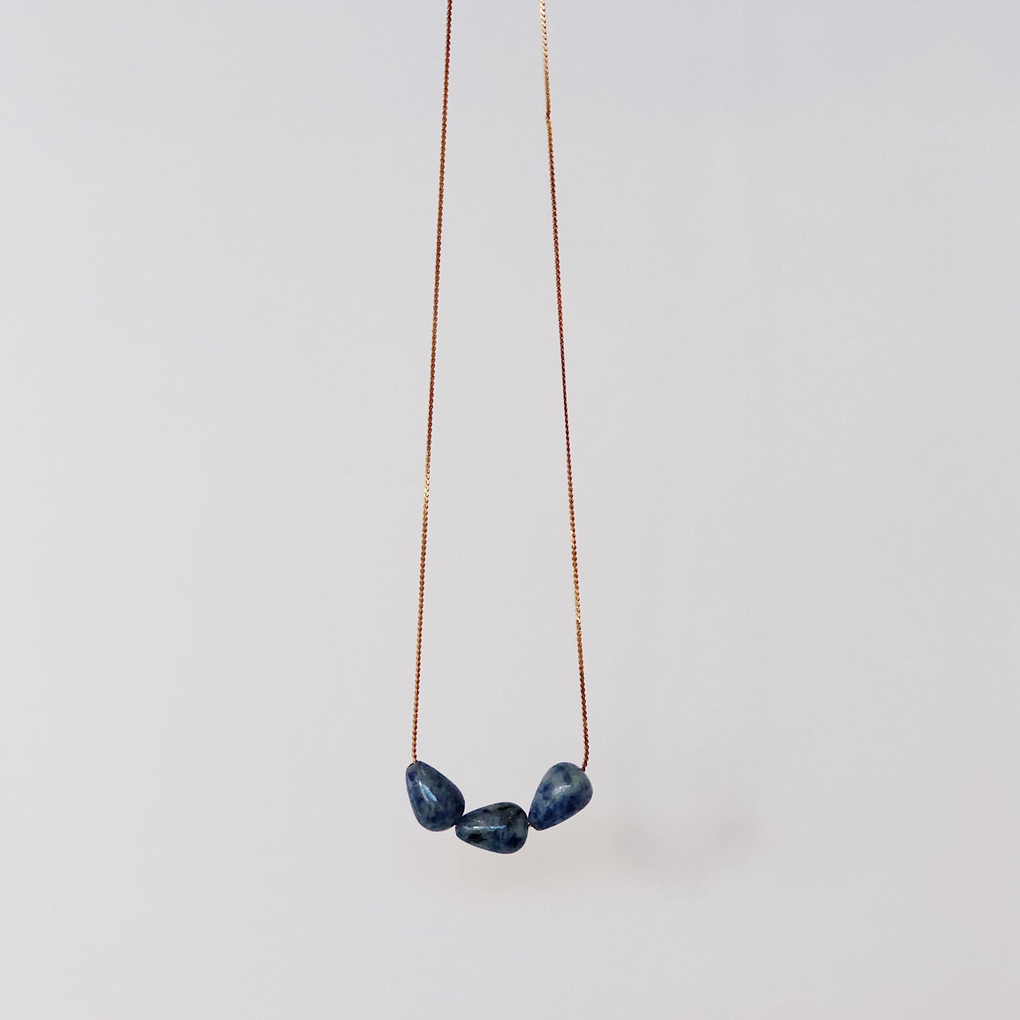 Lapis Triple Teardrop - Necklace