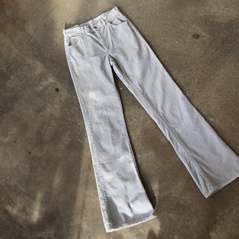 Vintage Coll. 01 - Lee High Waisted Flares - Gray Cords