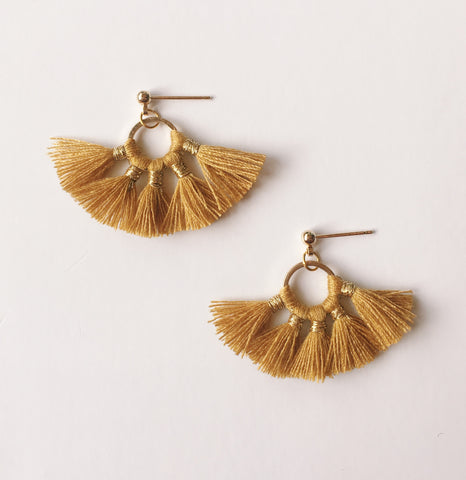 Gold Tassel - Earrings