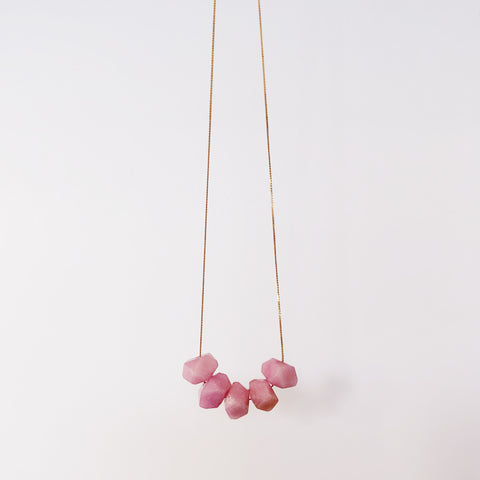 Full House - Pink Jade - Necklace