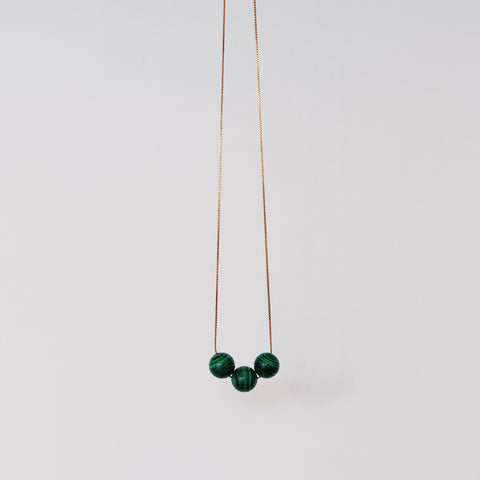 Malachite Trio - Necklace