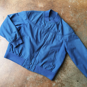 Vintage Coats - Blue Bomber Jacket