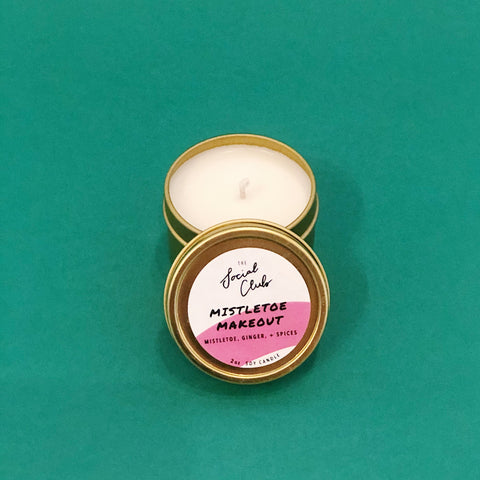 Mistletoe Make Out - Mini Candle