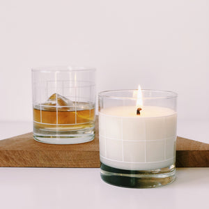 Candle + Cocktail Glass - Set