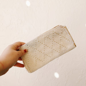 White Beaded Clutch - VC 07