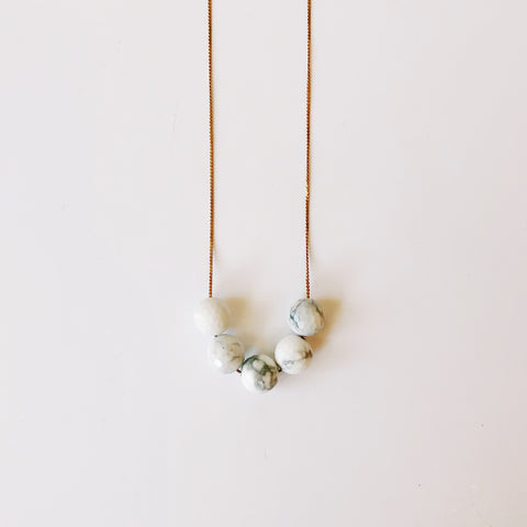 Full House - Howlite Marble - Necklace