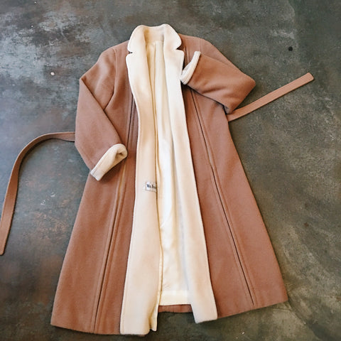 Vintage Coats - Collared Mocha Coat