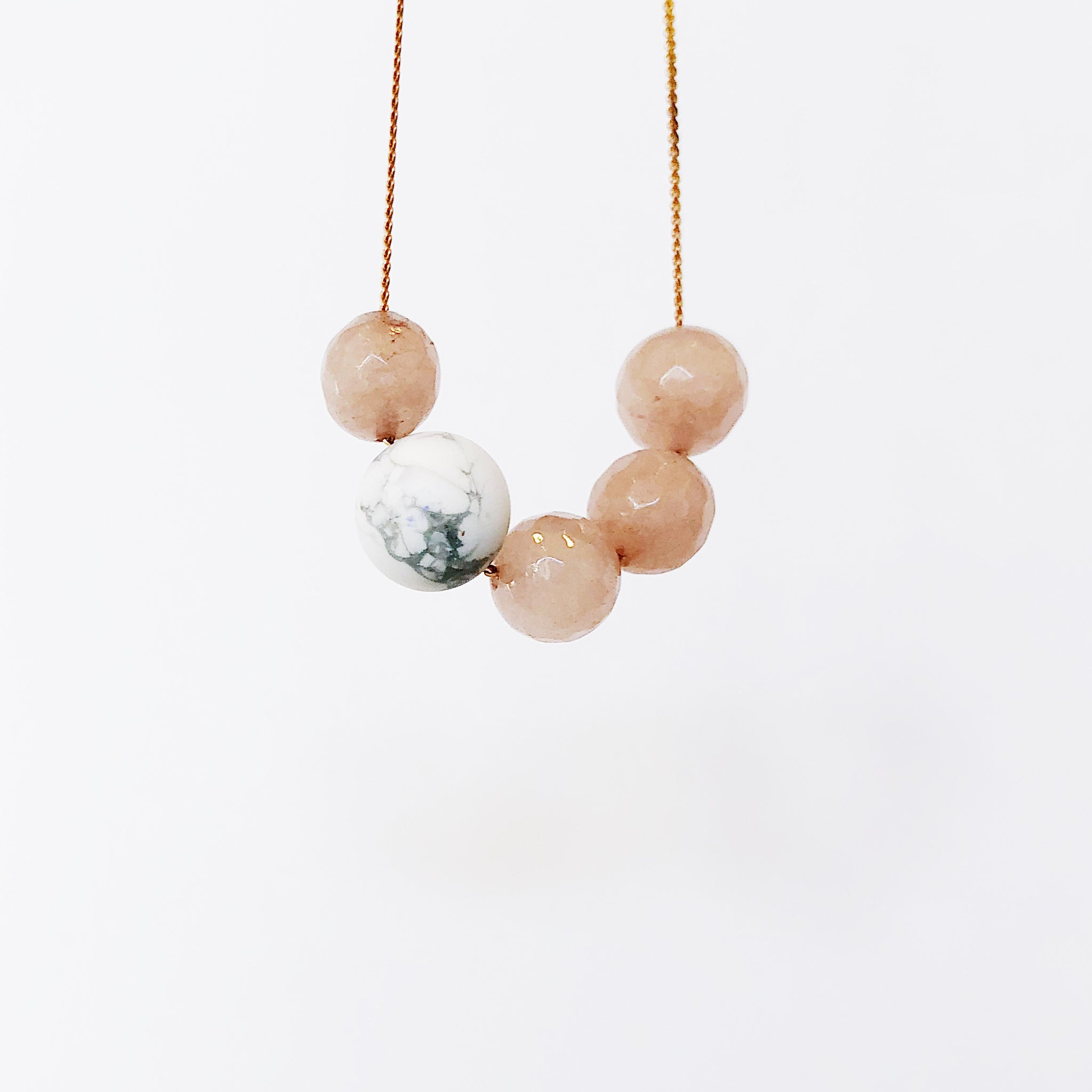 4 to 1 : Mauve + Marble - Necklace