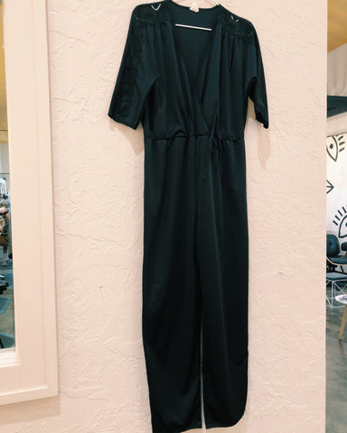 Black Lace Sleeve Jumpsuit - VC 07