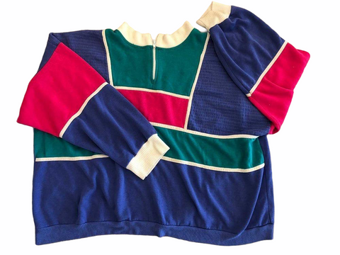 Colorful 1980's Pullover- VC 08