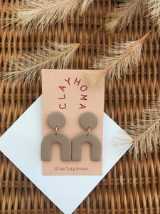 Tan Mini Arch Earrings